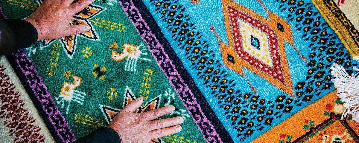 Fin de semana en temoaya la persia de los tapetes en for Tapetes anudados a mano