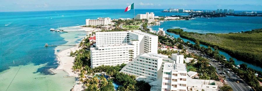 Vista panorámica de Cancún