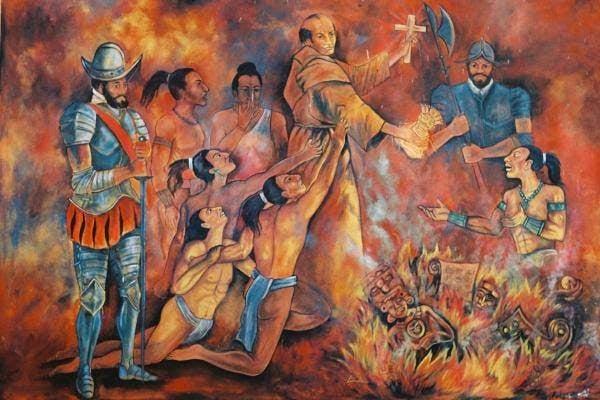 Fray Diego de Landa: el hombre que quemó los últimos códices mayas