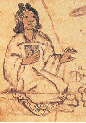 Tecuichpo (Isabel), hija de Motecuhzoma II.