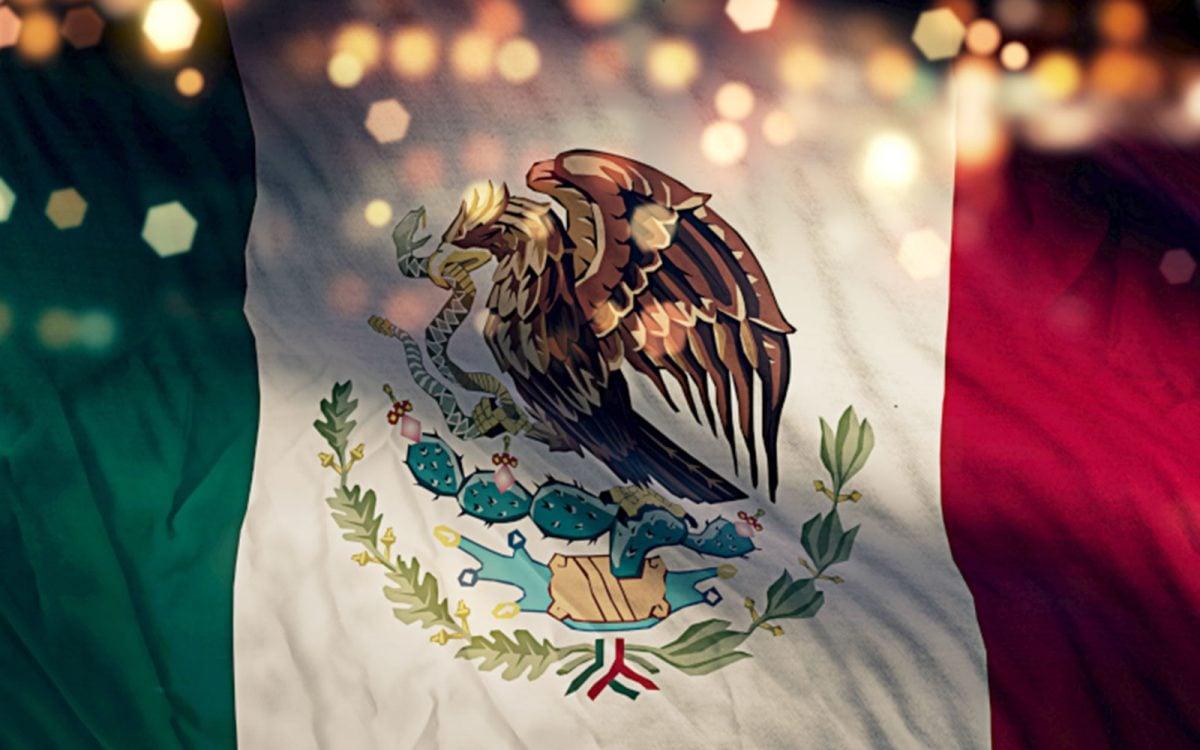 Bandera de México actual.