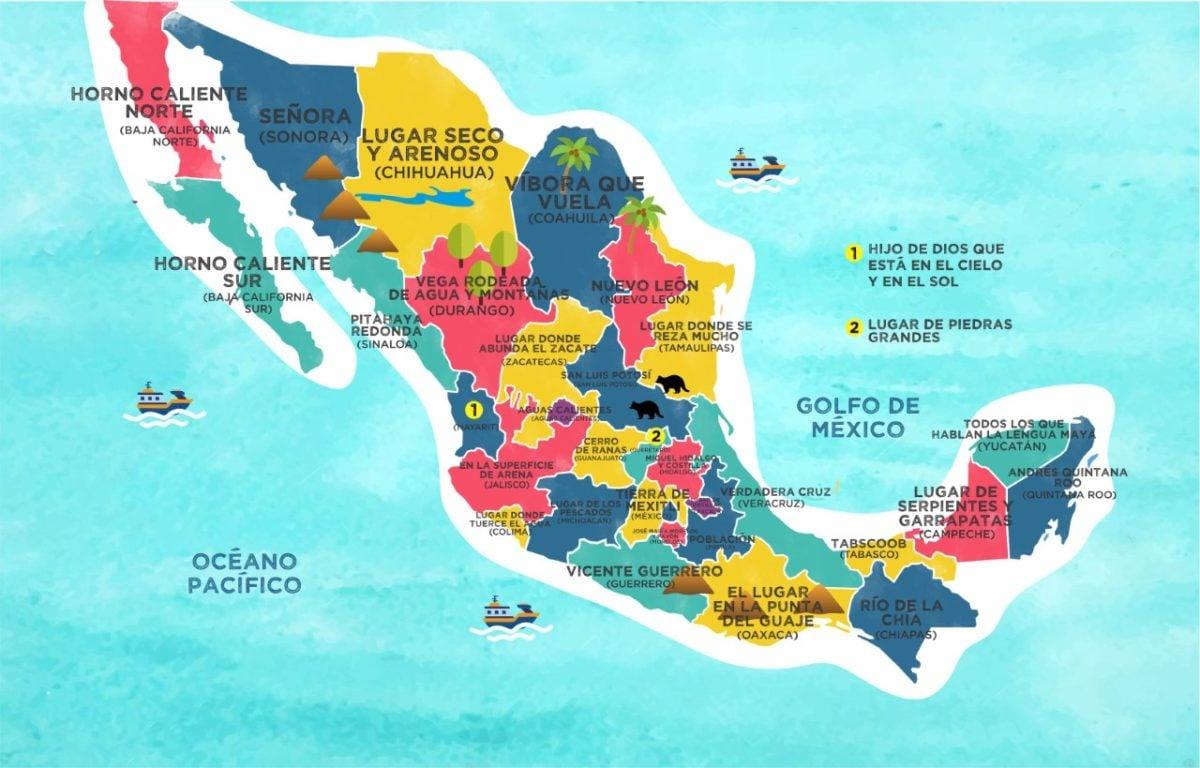 ¿Qué significan los nombres de los 32 estados de México?