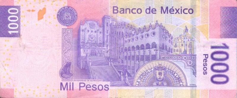 Los paisajes en los billetes mexicanos